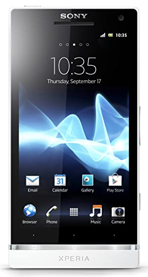 Sony Xperia S LT26i-WH Unlocked Phone with 12 MP Camera, Android 2 3 OS,  Dual-Core Processor, and 4 3-Inch Touchscreen--US Warranty (White)