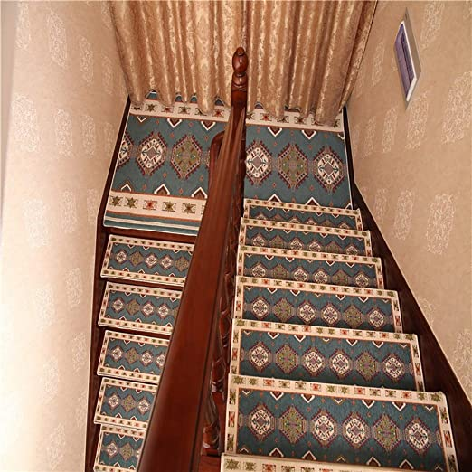 Antideslizantes para escaleras Autoadhesivo Alfombra De La Escalera Almohadillas Jacquard Alfombras De Escalera Silenciosa Alfombra De Casa Decoración Interior TZXSHO: Amazon.es: Hogar