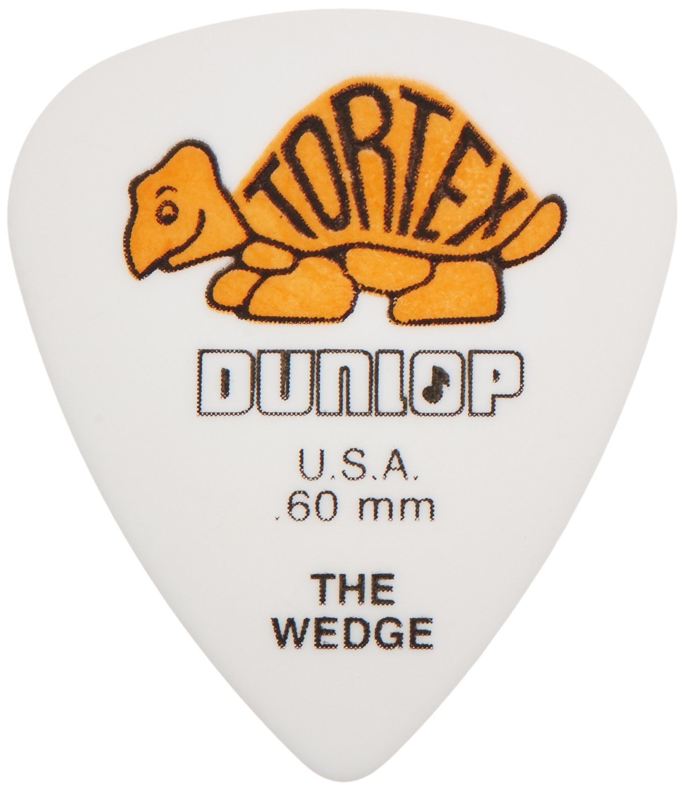 Dunlop 424R.60 Tortex Wedge, White/Orange.60mm, 72/Bag