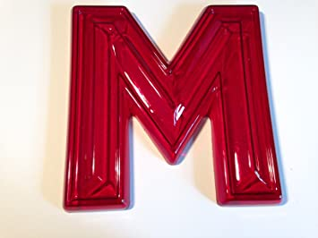 big red retro marquee letters m