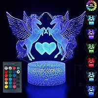 wgde toy LED Veilleuse 3D 16 Couleurs Smart Touch et télécommande - Les Jouets et Cadeaux