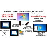 Windows 7 32 & 64Bit Installation Multi Bootable USB Flash Drive All Edition in 1 Re-install recovery repair restore fix windows