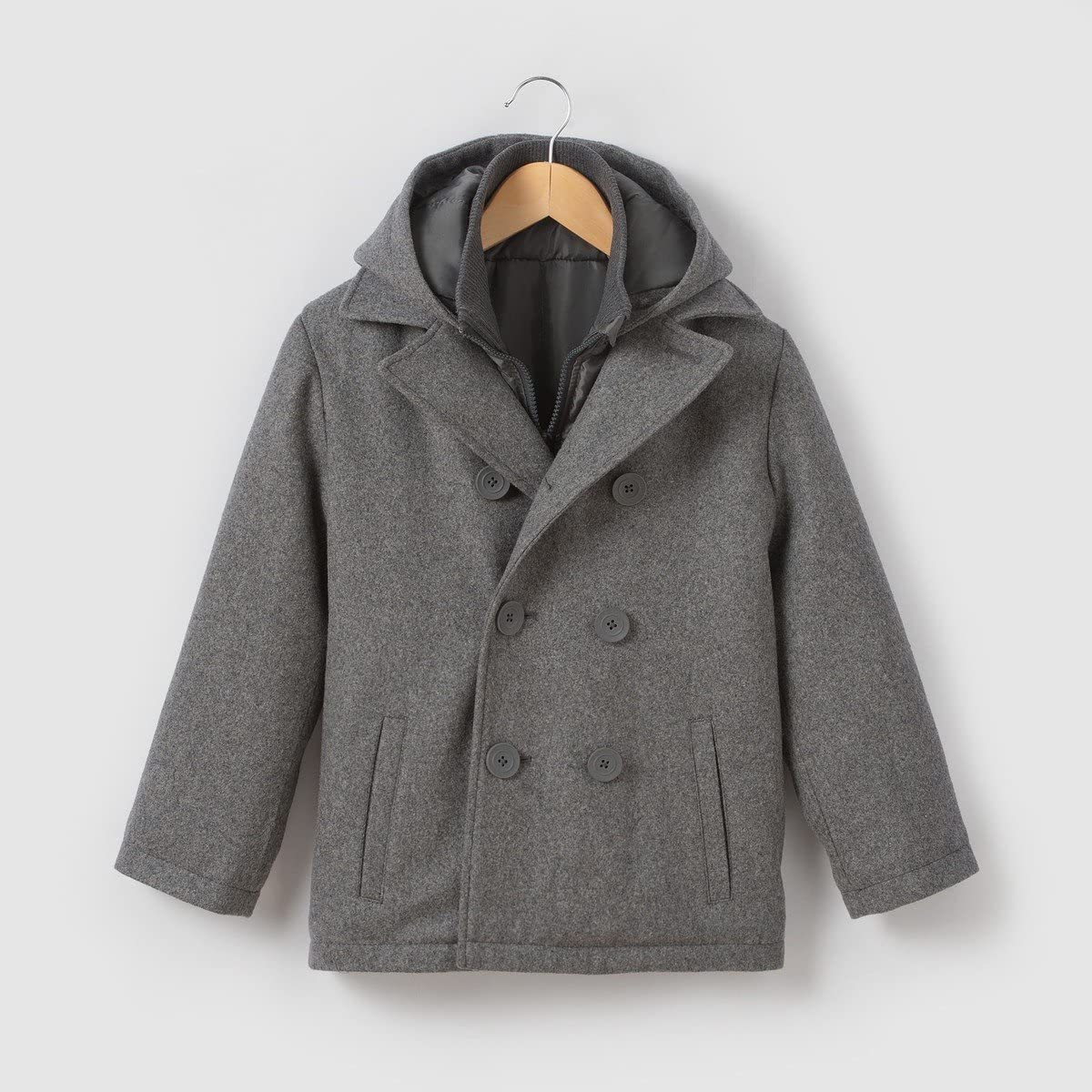 La Redoute Collections Wool Mix Pea Coat 3-12 Years