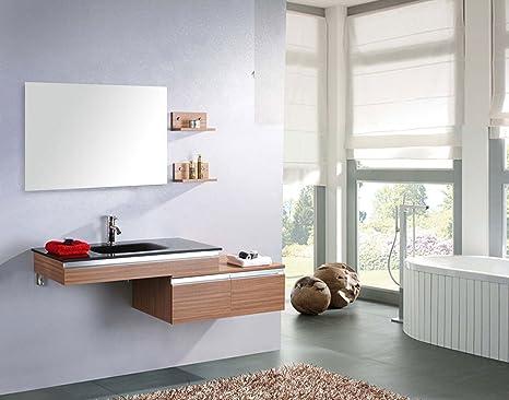 Bagno Marrone Moderno : Simba srl mobile bagno ebano arredo bagno arredobagno cm wenge
