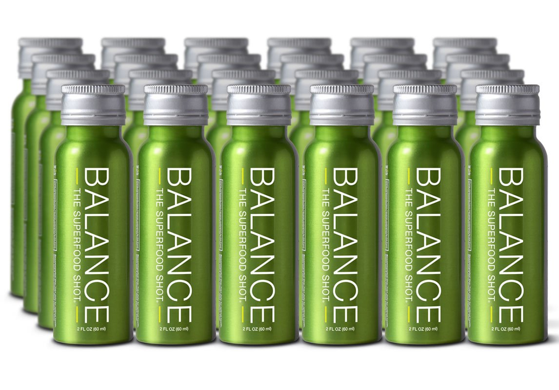 Superfood Shot, Organic Blend of Fruits, Vegetables and Greens, Smoothie, Green Drink to Take on the Go, Juice Cleanse, 2oz. Serving, Vegan, Gluten-Free (24 pack)