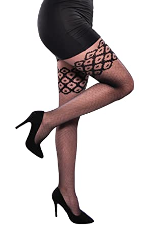 62c2edd2b5e7e LADIES PATTERNED TIGHTS LUCY HOSIERY 20 DEN LIKE STOCKINGS: Amazon.co.uk:  Clothing