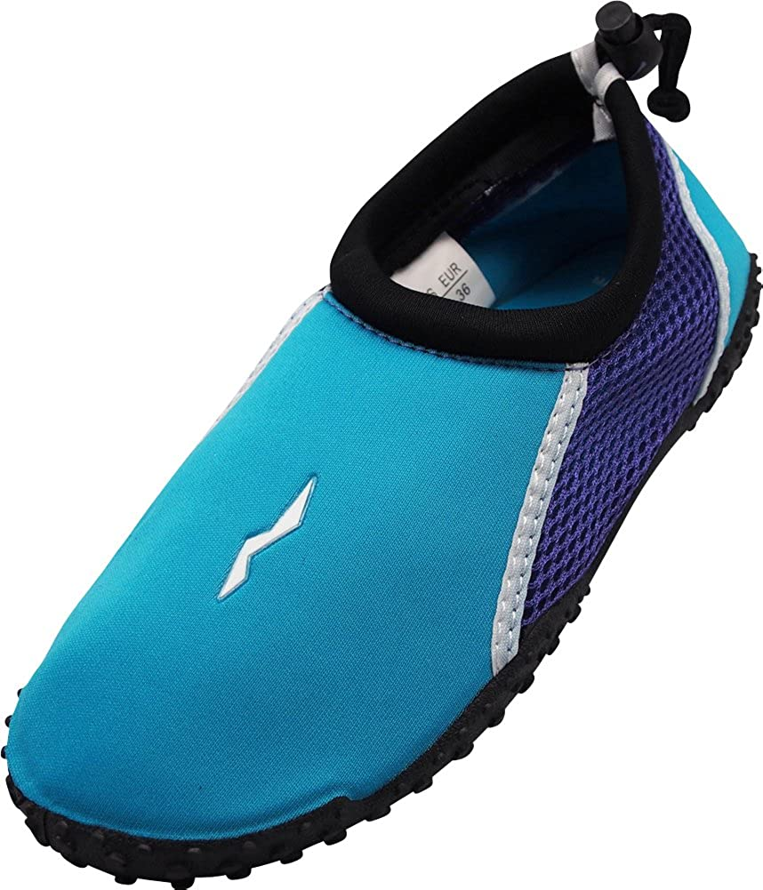 85b04ab2c757 Amazon.com | NORTY Womens Water Shoes Wave Aqua Socks - Ladies Quick Drying  Waterproof Slip-ONS for Pool, Beach and Sports | Water Shoes