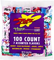 Zotz Fizzy Candy Bag, Assorted Flavors, 100 Count Bag