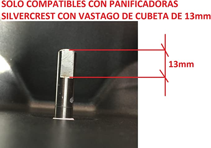PALA PARA PANIFICADORA SILVERCREST PARA CUBETA LIDL: Amazon.es: Hogar