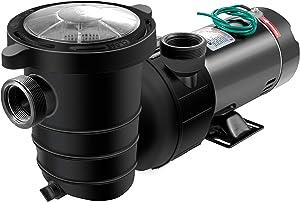 Happybuy 1.5 HP Pool Pump, 4980 GPH Pool Pump In/Ground Swimming Pool Pump with Strainer Basket Pool Pump Motor for Clean Swimming Pool Water 1.5