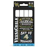 White Liquid Chalk Markers (4-pack) by VersaChalk - For Chalkboard Signs, Blackboards, Glass, Windows