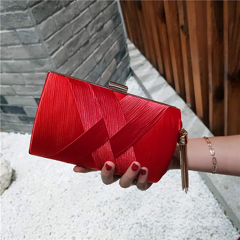 Dinner bag clutch bag woven chain bag ladys banquet bag shoulder diagonal package small square bag