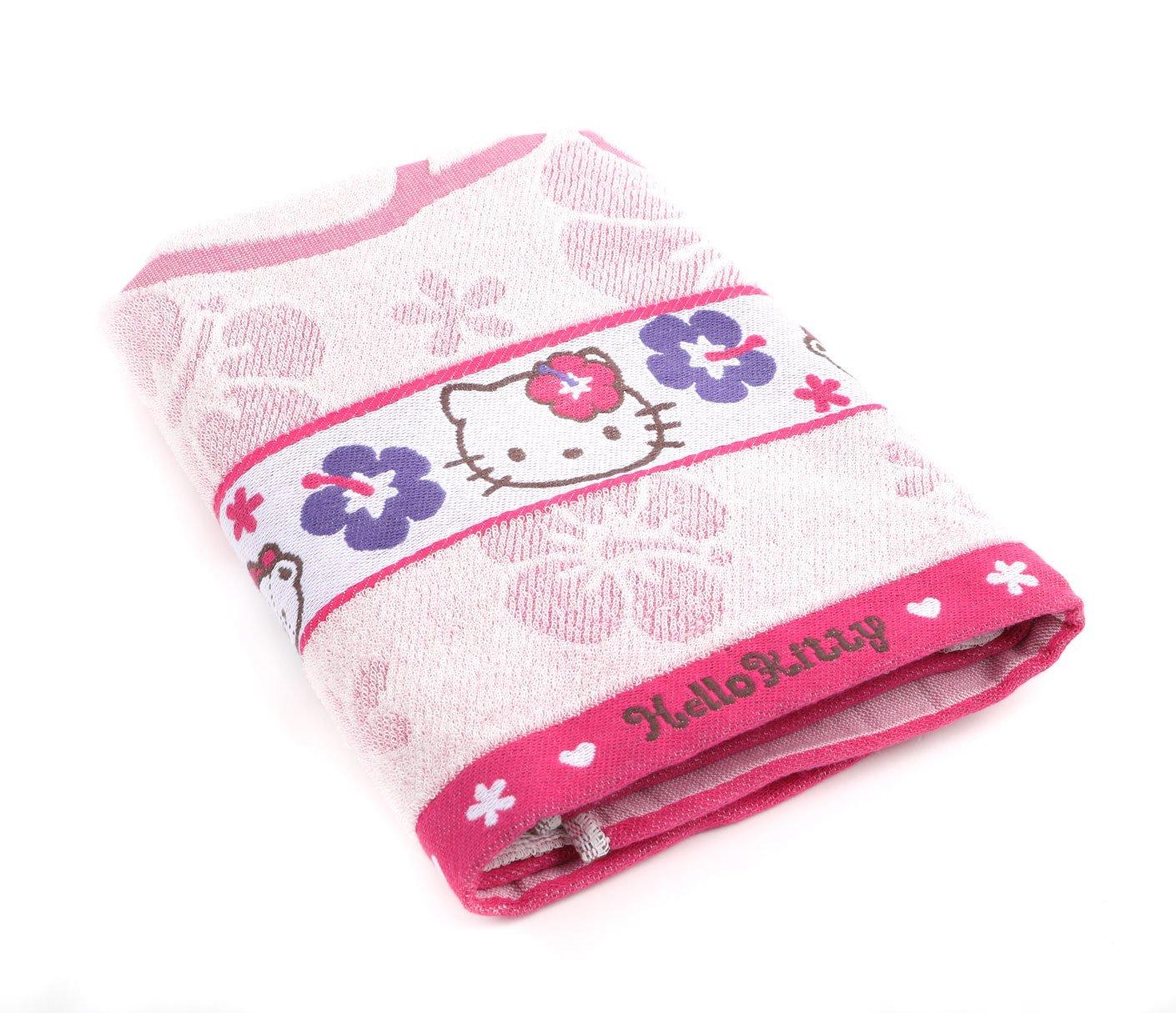 db9178ec0 Amazon.com : SANRIO Hello Kitty Bath Towel: Hibiscus Flower : Baby