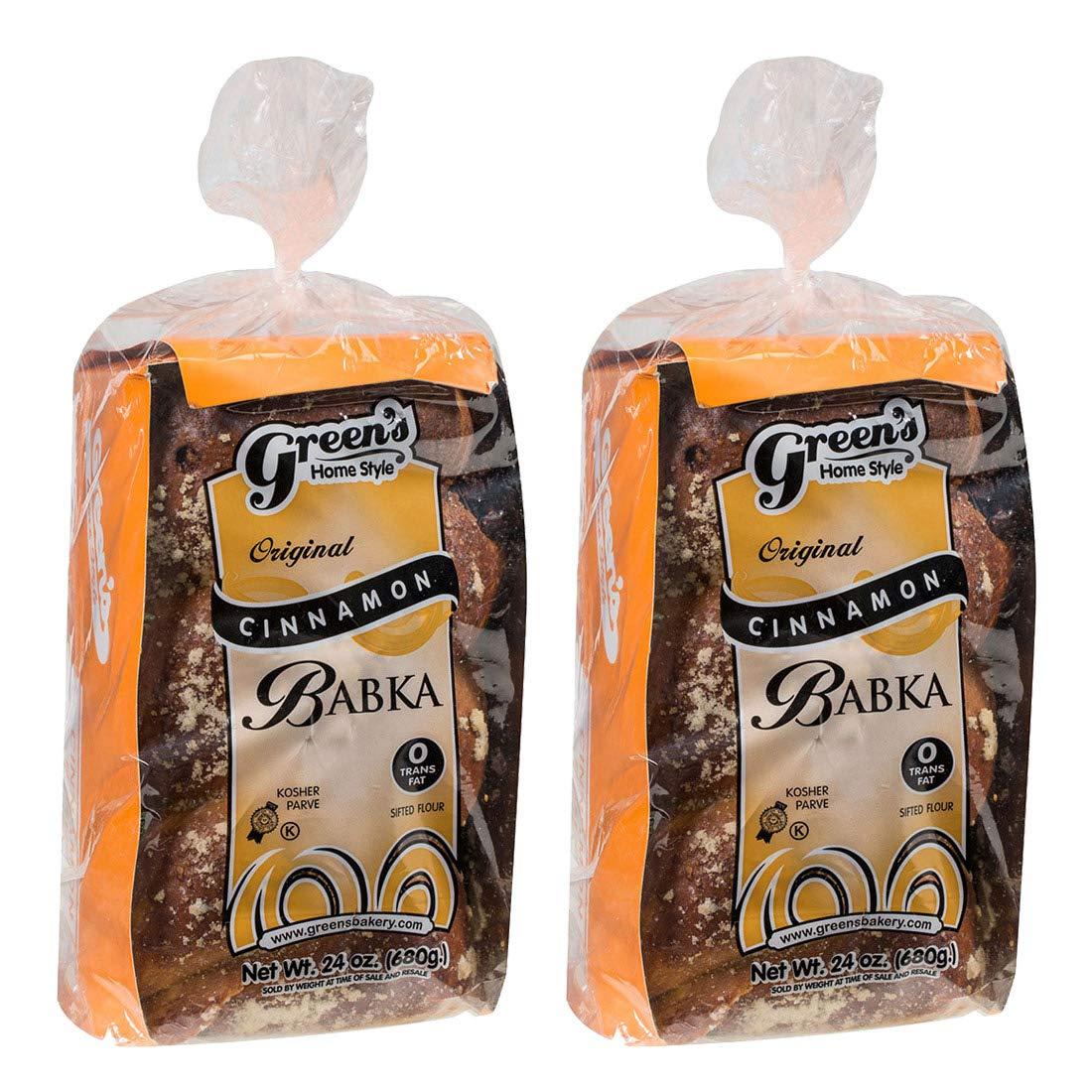 Green's Bakery Traditional Kosher Cinnamon Babka, 24 oz - 2 Pack by Green's (Image #1)