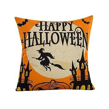 Amazon.com: Happy Halloween fundas de almohada, napoo 2017 ...