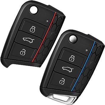 Funda para Llave de Coche VW Golf 7, Yosemy, 3 Botones, Silicona ...