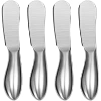 Spreader Knife Set, WoneNice 4-Piece Cheese and Butter Spreader Knives, One-piece Stainless Steel, Gifts for Christmas, Birthday/Parties, Wedding/Anniversary and Thanksgiving Day