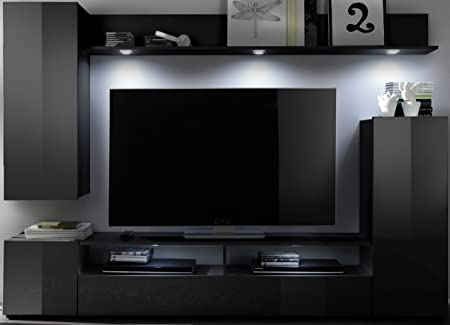 5.5.4.6,2529: cheap and modern Wohnschrank-Wohnkombination Black TV ...