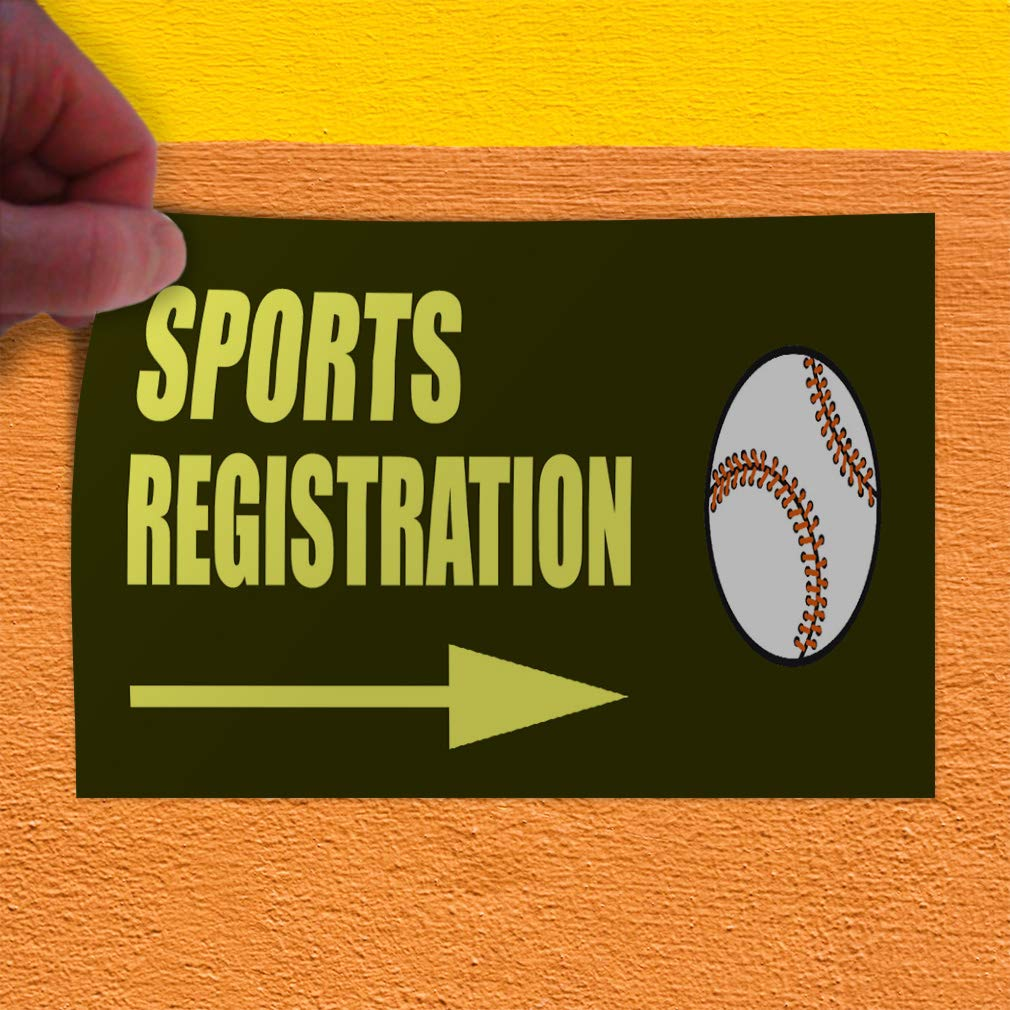 Set of 2 Decal Sticker Multiple Sizes Sports Registration Baseball Sports Sports Registration Outdoor Store Sign Yellow 54inx36in