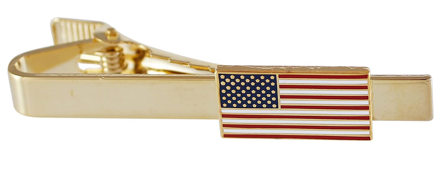 Official American Flag Tie Bar Forge U-11
