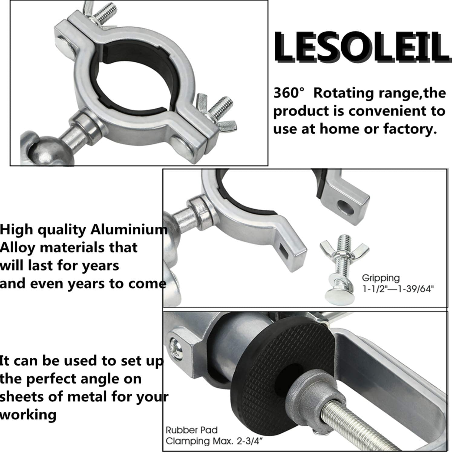 LESOLEIL Punte a Gradini Triangolo HSS Titanium Attrezzo Scala Trapano 3-12mm