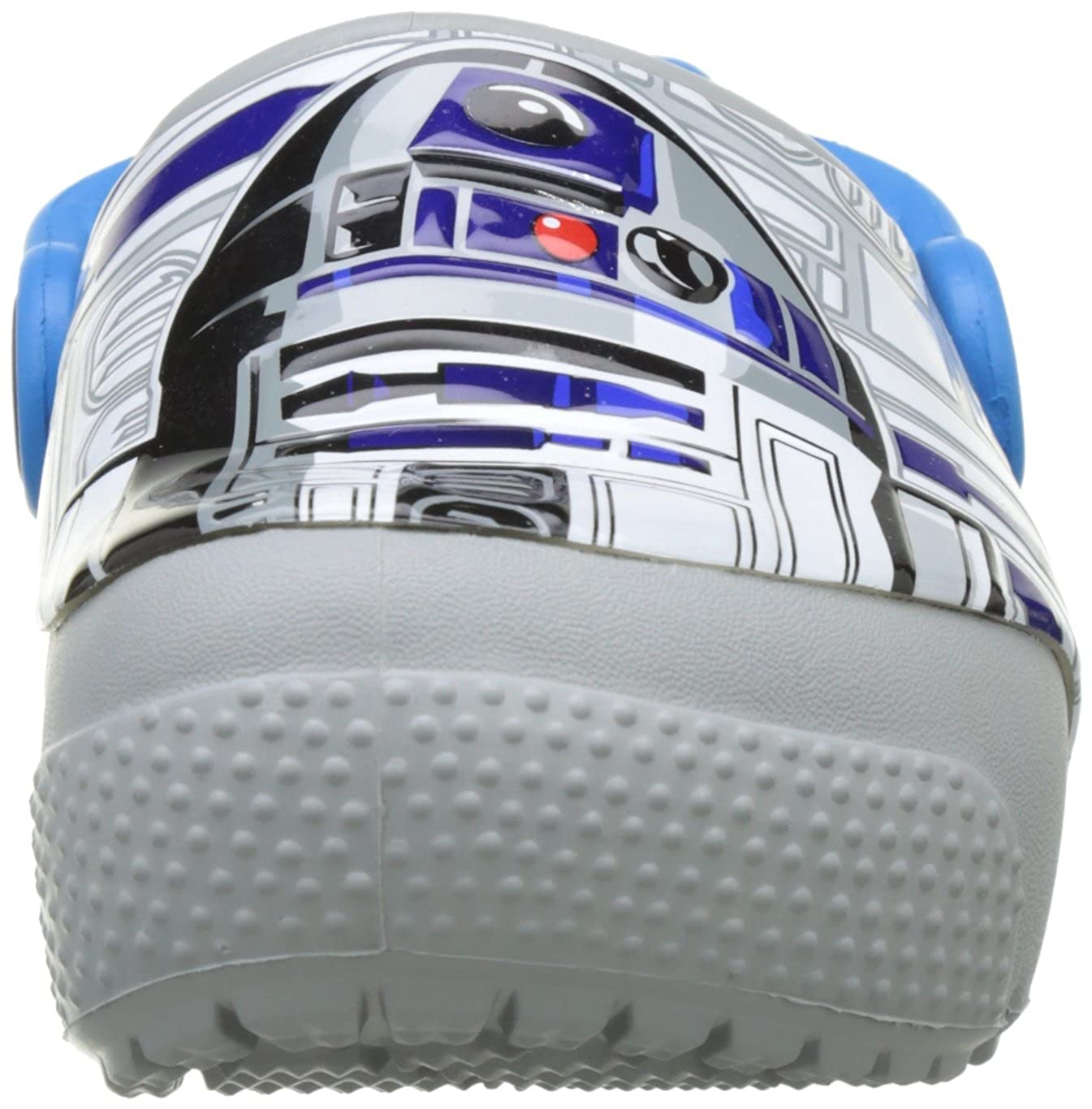 Crocs Kids Fun Lab Light-Up R2D2 Clog crocs Boys/' Crocsfunlab R2D2 Clog Ocean//Light Grey 4 M US Toddler 204135