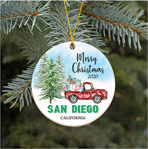 Christmas Buffet San Diego 2020 Amazon.com: Christmas Ornament 2020 San Diego California CA