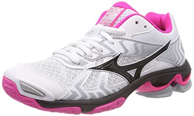 free shipping 554d6 58fc1 Mizuno Wave Bolt 7, Sneakers Basses Femme, Multicolore (White Black Pinkglo