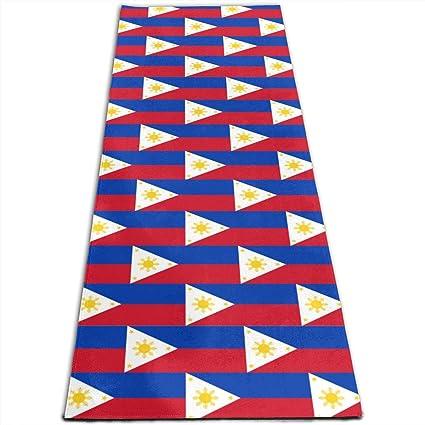 Amazon.com: Philippine Flag Pattern Printed Yoga Mat Prana ...