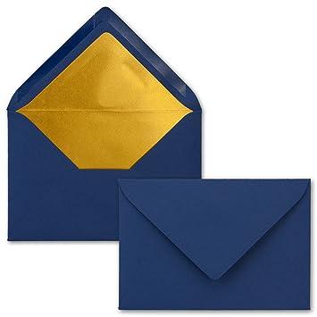 Kuverts In Nachtblau 50 Stück Brief Umschläge Din C6