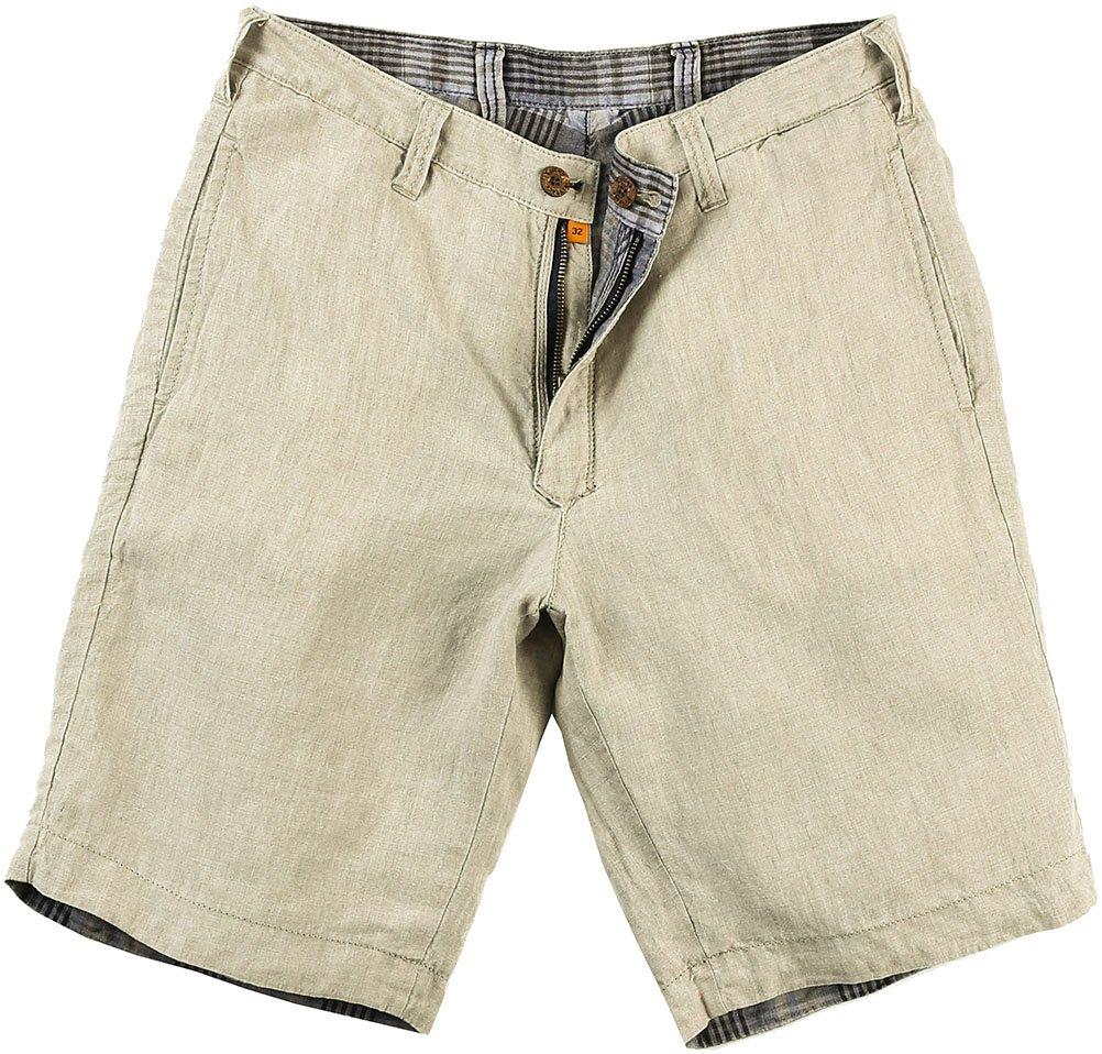 Tailor Vintage Plaid Linen Reversible Shorts