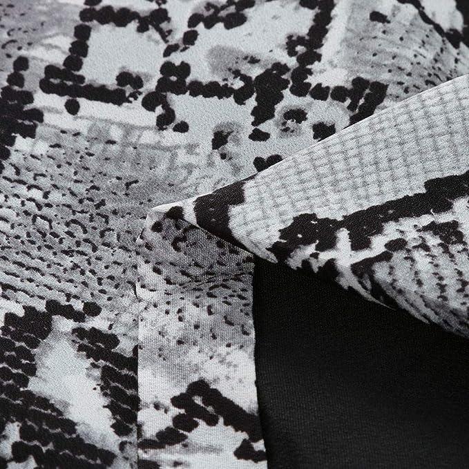Rovinci☆ Traje de Mujer con Estampado de Serpiente Otoño Invierno Abrigo de Manga Larga Moda Trajes de Negocios: Amazon.es: Ropa y accesorios
