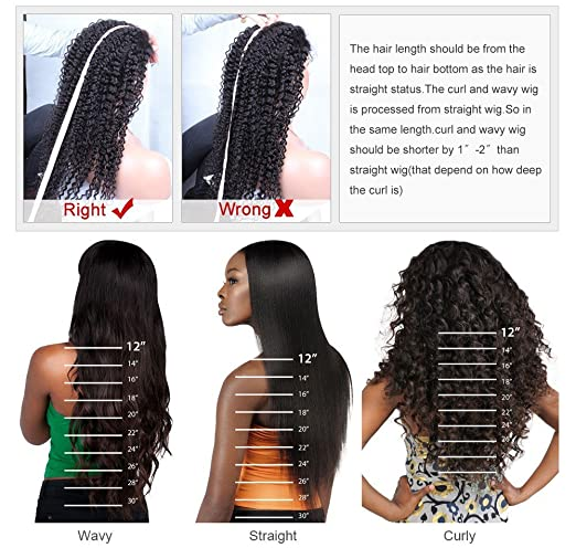 Amazon.com : Helene Hair Sexy Loose Deep Wave Wig Brazilian Virgin Hair Human Hair Glueless Full Lace Wigs With Baby Hair 130% Density (12