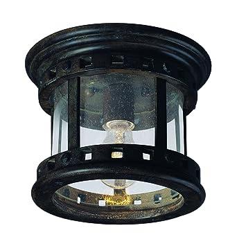 maxim 3130cdse santa barbara cast 1light outdoor ceiling mount sienna - Outdoor Ceiling Lights