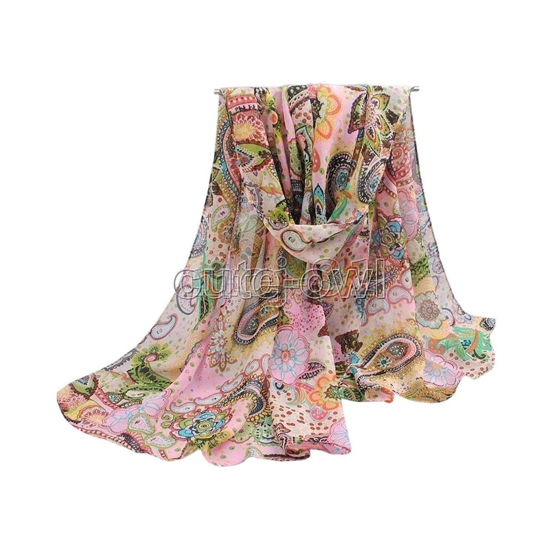 New Fashion Women's Fashion Long Soft Paisley Chiffon Scarf Wrap Shawl Scarves