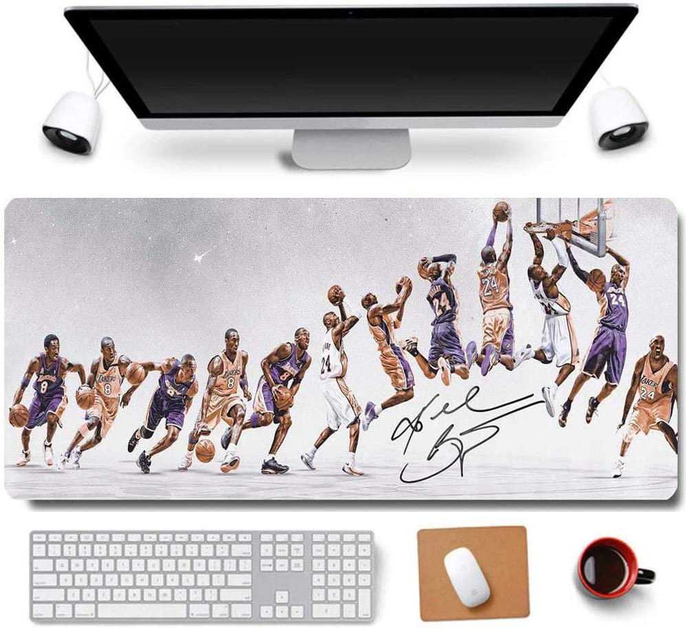 31.5x11.8 Inch Cool Legend Black Mamba Kobe Non-Slip Rubber Extended Large Gaming Mouse Pad with Stitched Edges Computer Keyboard Mouse Mat PC Accessories (7-Kobe Move)