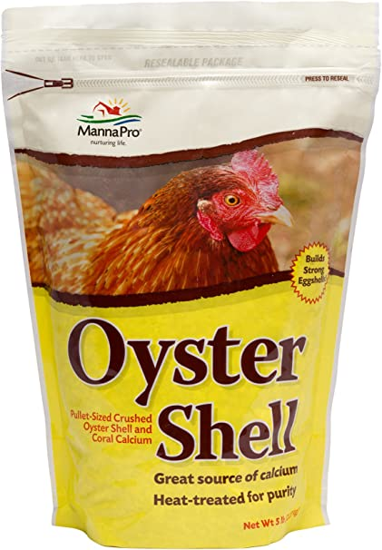Manna Pro Crushed Oyster Shell   Egg-Laying Chickens   5 LB