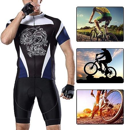 YILIFA Jersey de Ciclismo para Hombre, Ropa de Ciclista Profesional, Camisas de Bicicleta Use Pantalones Cortos de MTB Jersey,3XL: Amazon.es: Hogar