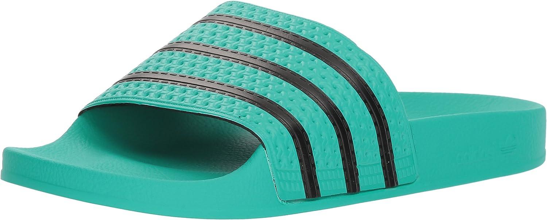adidas Originals ADILETTE 280647, Sandales mixte adulte Hi Res Green S Core Black Hi Res Green S