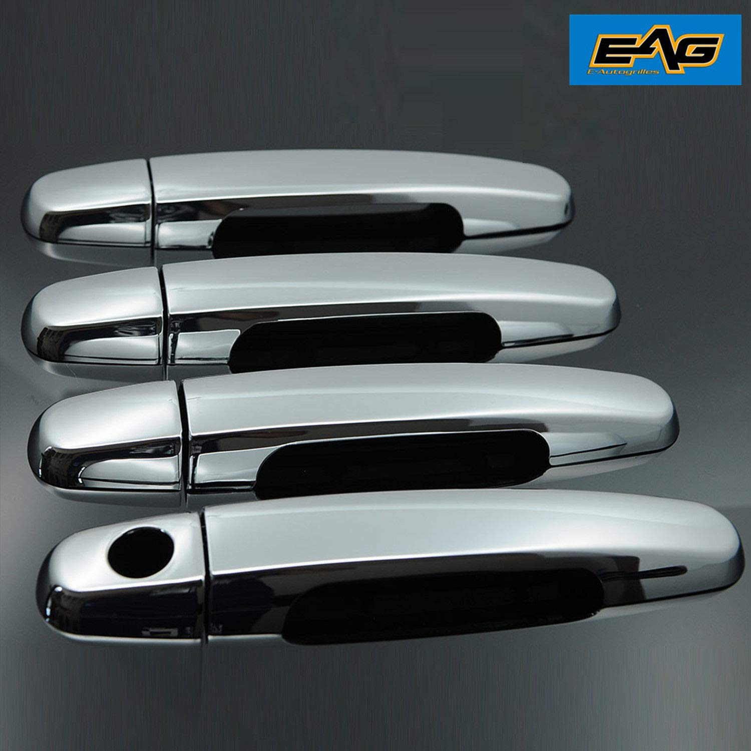 01-07 Toyota Highlander 03-13 Toyota Corolla E-Autogrilles Triple Chrome Plated ABS 4 Door Handle Cover without Passenger Keyhole for 02-06 Toyota Camry 01-11 Toyota RAV4 04-08 Toyota Camry Solara 07-12 Toyota Yaris 04-09 03-13 Toyota Matrix