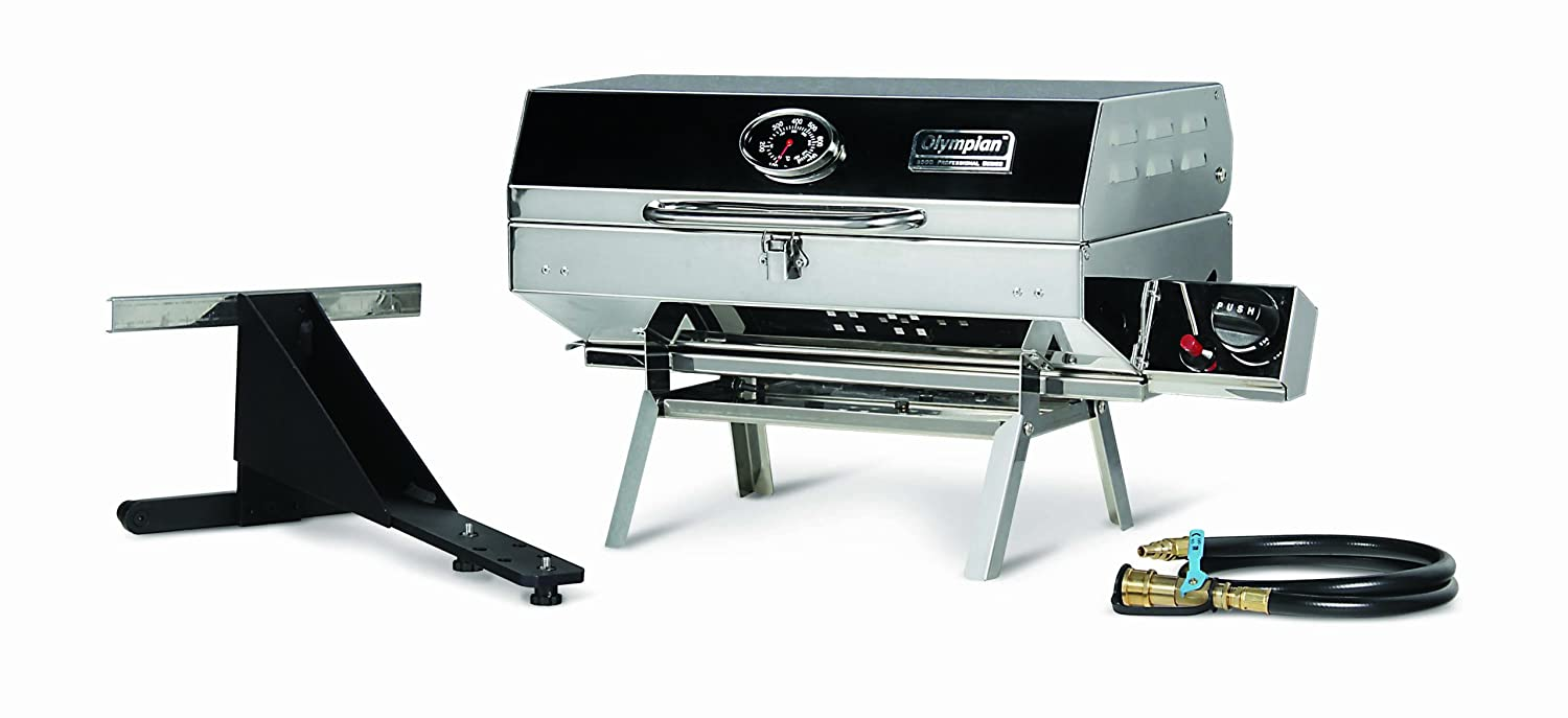 Elegant Amazon.com: Camco Olympian 5500 Stainless Steel Portable Grill, Connects To  Low Pressure Supply On RV, Includes RV Mounting Bracket And Folding  Tabletop ...