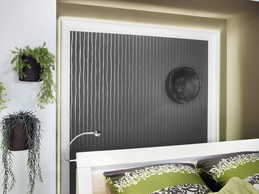 Decosa Barra de luz (estuco Botones L100 (Saskia), 10 láminas à 2 m Longitud – Iluminación indirecta de poliestireno – También se puede utilizar como Barra de cortina, 65 x 100 mm: Amazon.es: Bricolaje y herramientas