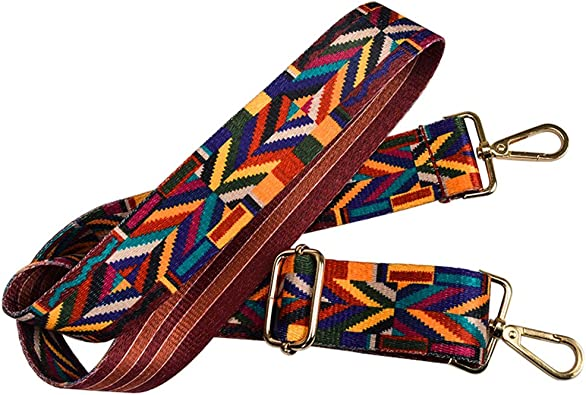 Purse Strap Replacement Guitar Style Multicolor Crossbody Strap for Handbags Purse Making Accessory Colorful Style