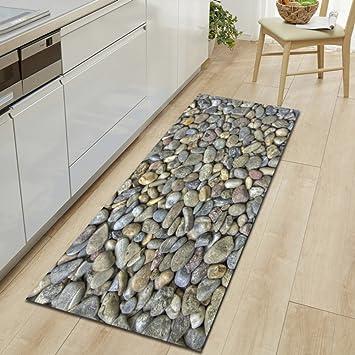 Krwhts Abstrakt Decor, Natur Fluss Bett Kieselsteine Bad Teppiche,  Rutschfeste Fußmatte Boden Eingänge Outdoor