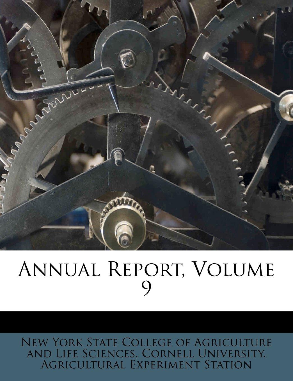 Read Online Annual Report, Volume 9 PDF