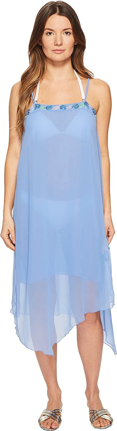 Azure Letarte Womens Embroidered Tank Dress Coverup