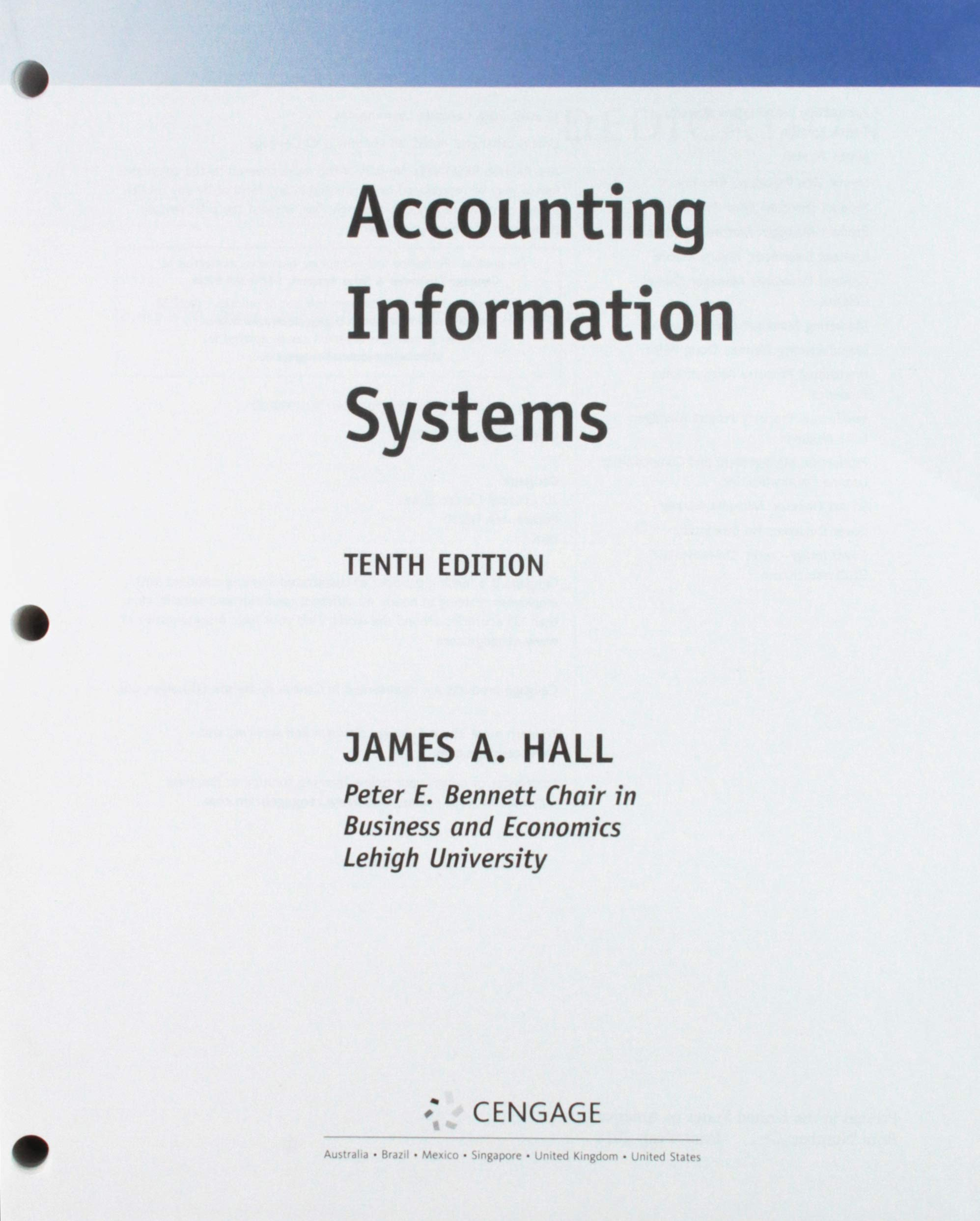 Bundle: Accounting Information Systems, Loose-leaf Version, 10th + MindTap Accounting, 1 term (6 months) Printed Access Card