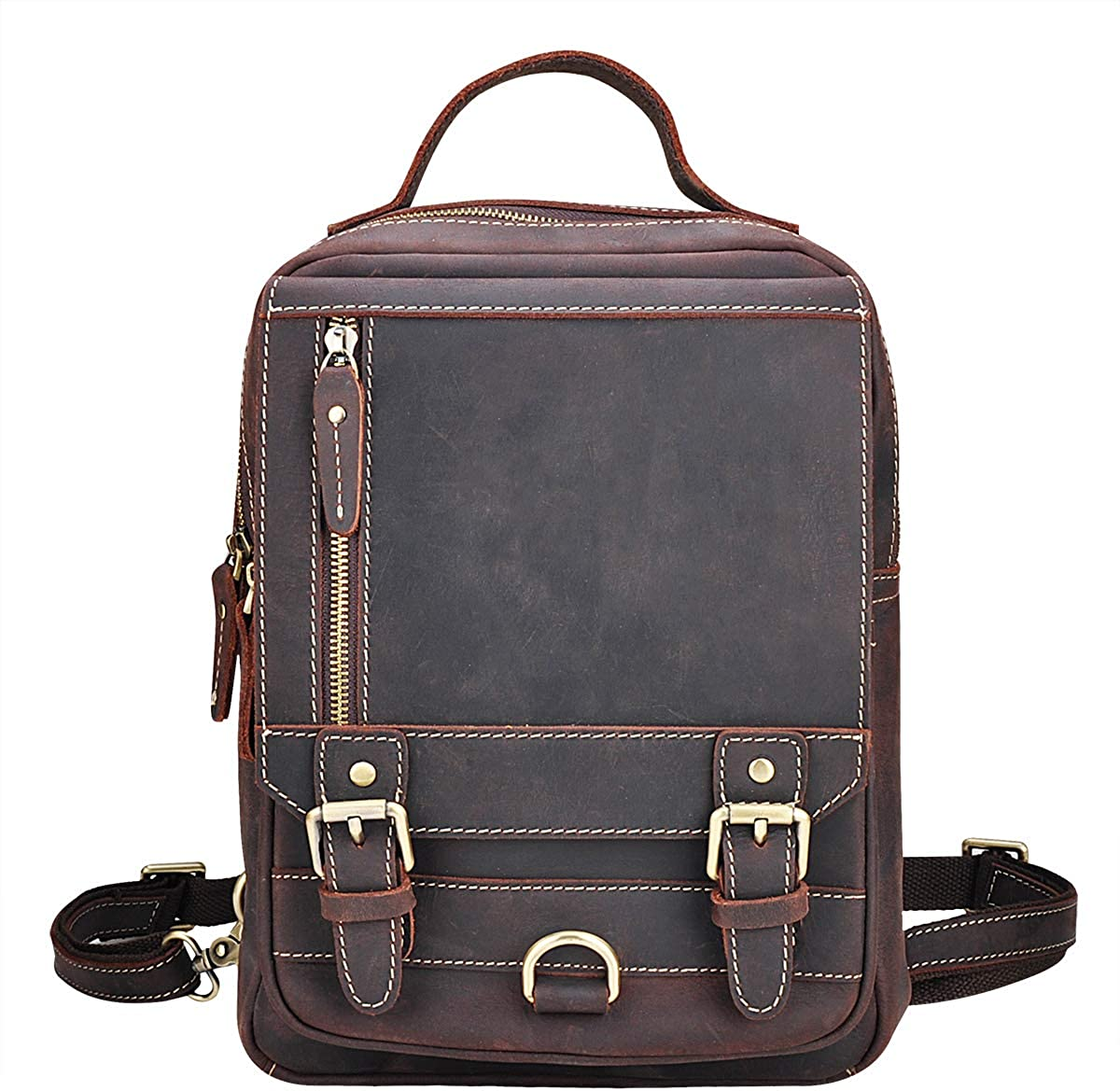 OakHide Vintage Leather Sling Bag Chest Daypack 2