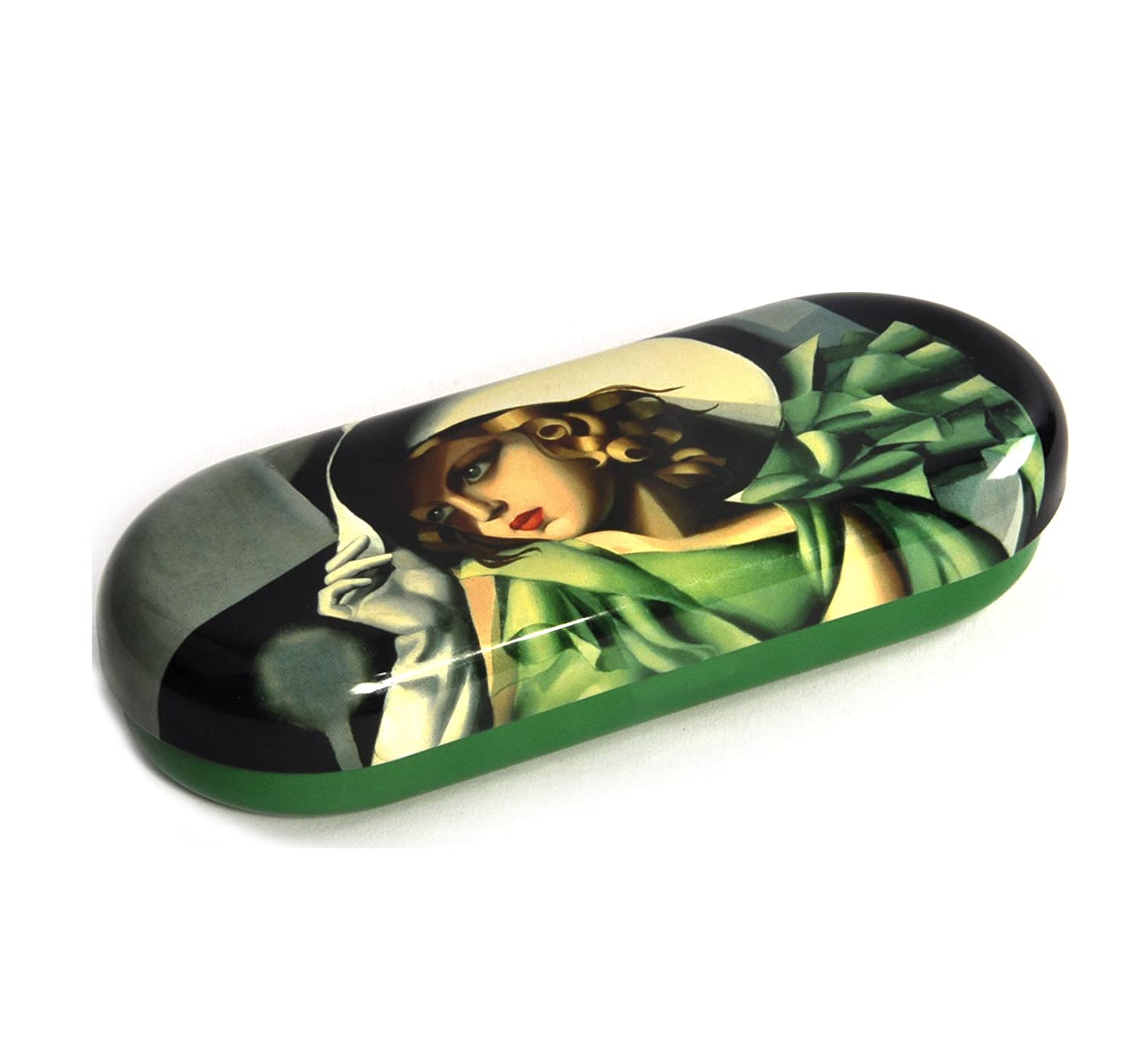 Fridolin 18731Lempicka Young Lady with Gloves Multi-Coloured Metal Glasses Case 16x 6.6x 2,8cm