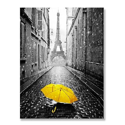 amazon com genius decor modern black gray and yellow decor paris